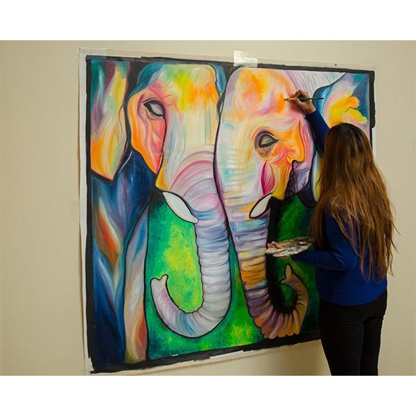 Elephant Love Painting - YesNo