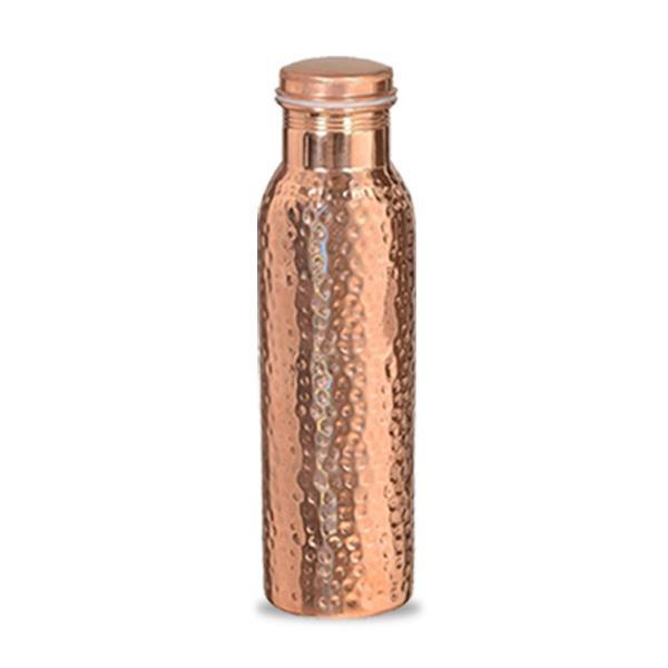 Hammered Copper Bottle and Glass Set - YesNo