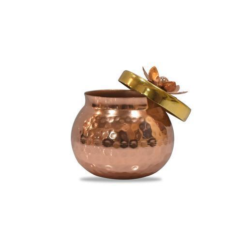 Hammered Dry Fruit Metal Jar - Set Of 3 - YesNo