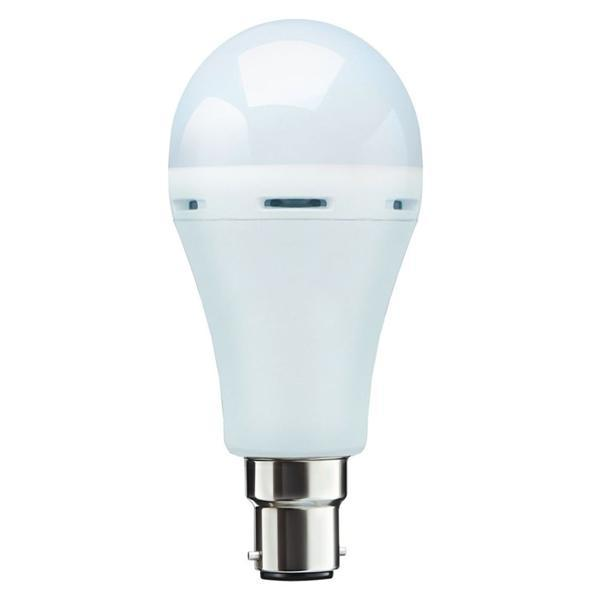Inverter Bulb 9/12 Watt Rechargeable Emergency LED Bulb, Cool White, Base B22