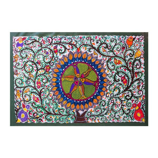 Madhubani Fortune Fish Painting - YesNo