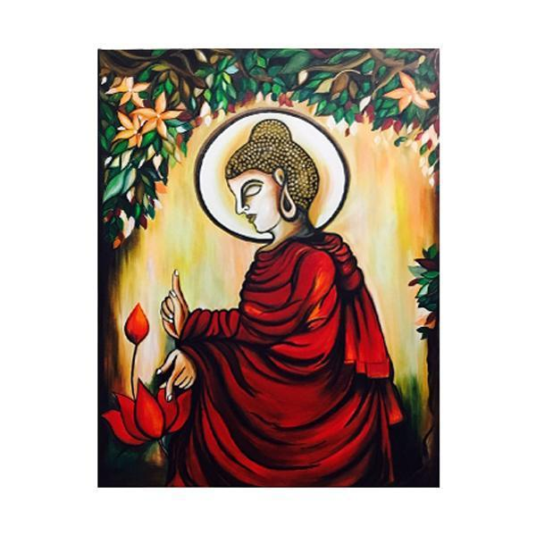 Meditating Lord Buddha Painting