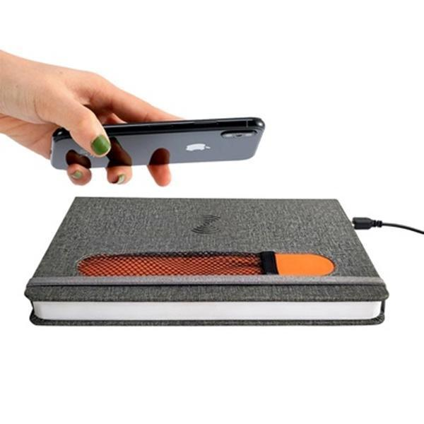 Notebook With Wireless Charger for iPhone and Android Phones - YesNo