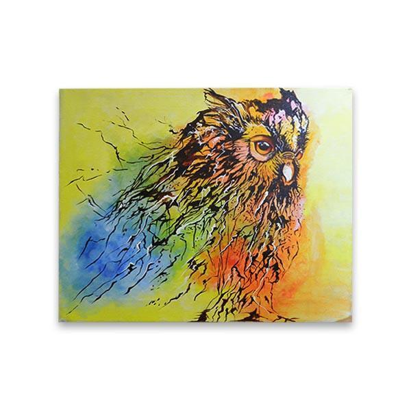 Owl Head Painting
