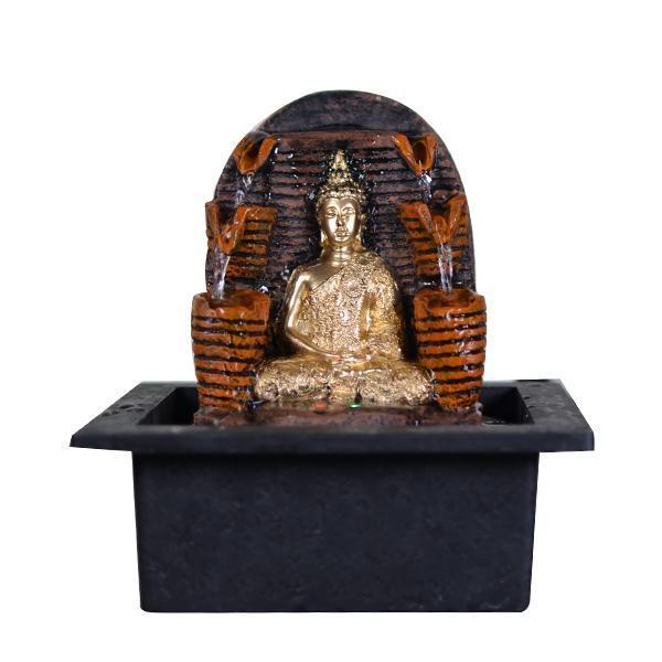 Polyresin Buddha Table Top Water Fountain - Small - YesNo