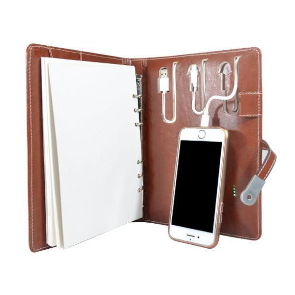 Power Bank Executive Diary with 16 GB Pen Drive - 5000 mAh Power Bank - YesNo
