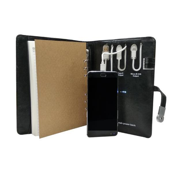 Power Bank Executive Notepad with 16 GB Pen Drive - 4000 mAh Power Bank