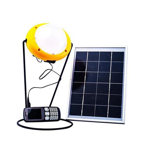 Power Bank Solar Light with 5.5W Solar Panel + 4 Solar Sensor Wall Light With Motion Sensor - YesNo