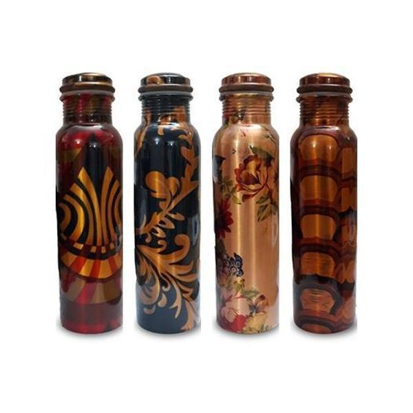 Printed Copper Bottles - Set of 4