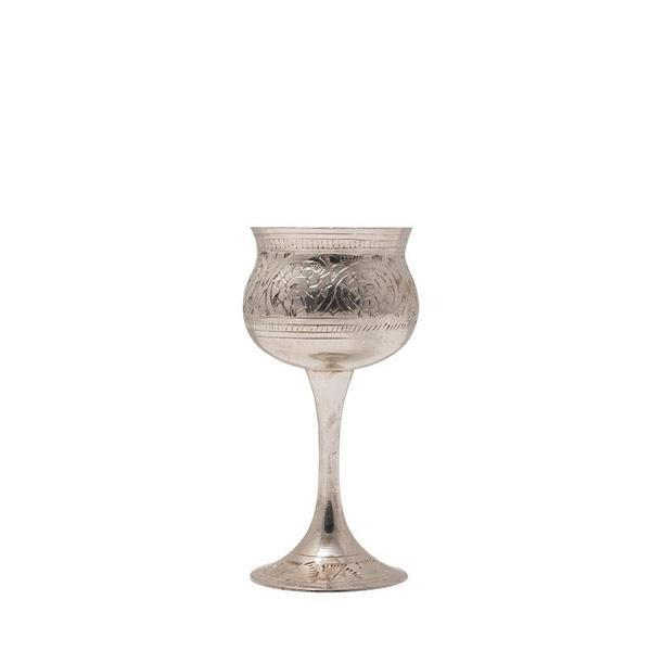 Silver Bell Wine Goblet Glass