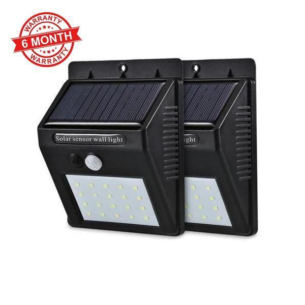 Solar Sensor Wall Light - Set of 2