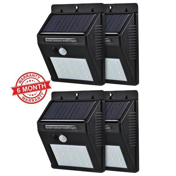 Solar Sensor Wall Light - Set of 4