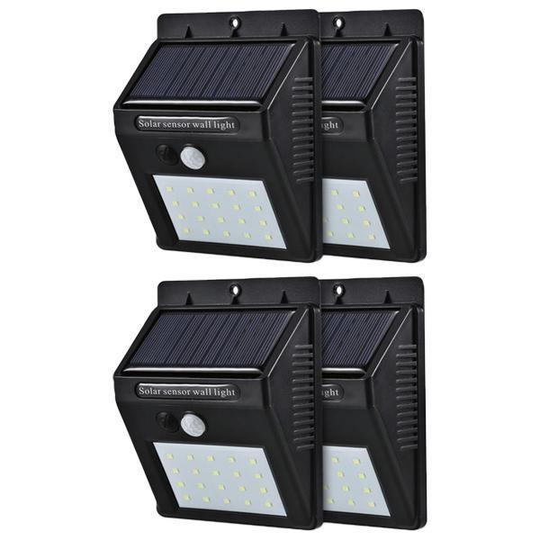 Solar Sensor Wall Light - Set of 4 - YesNo