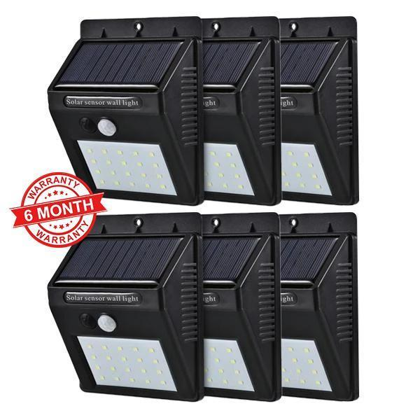 Solar Sensor Wall Light - Set of 6