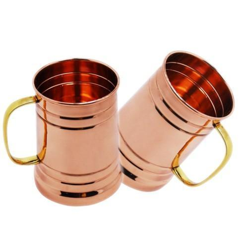 Tankard Mule Copper Mugs - Set of 2 - YesNo