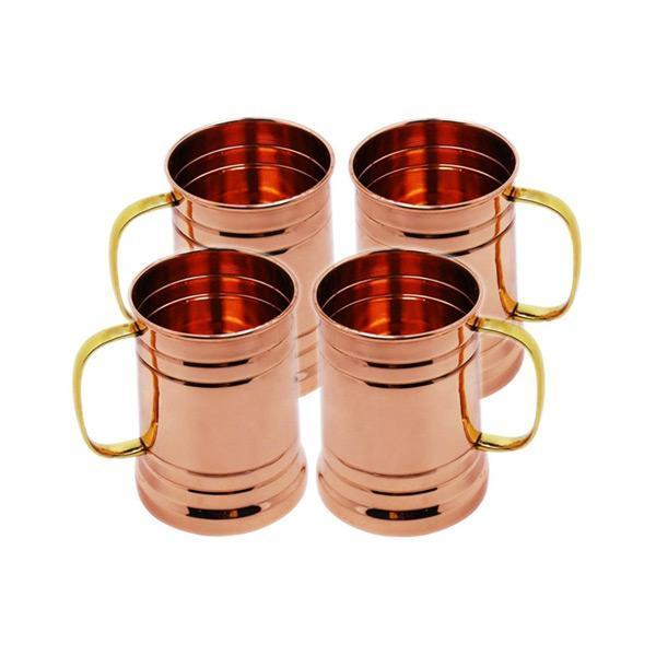 Tankard Mule Copper Mugs - Set of 4