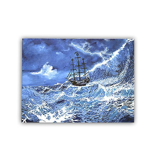 The Sea Storm Painting