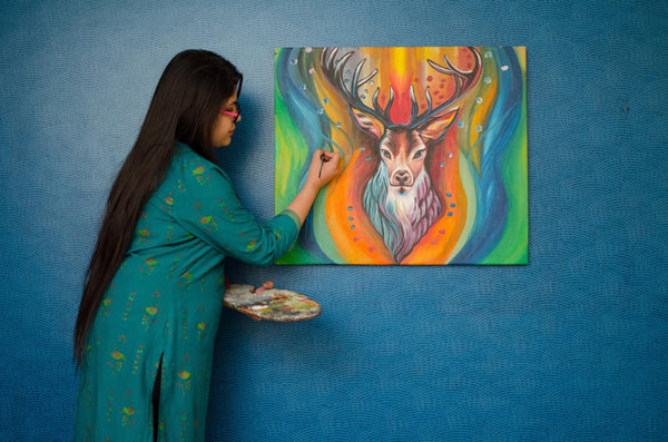 The Stag Painting - YesNo