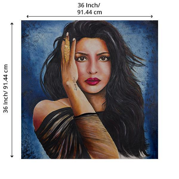 The Superstar Priyanka Chopra Painting - YesNo