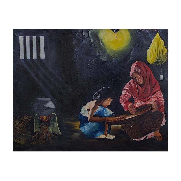 The Village Mother Daughter Painting