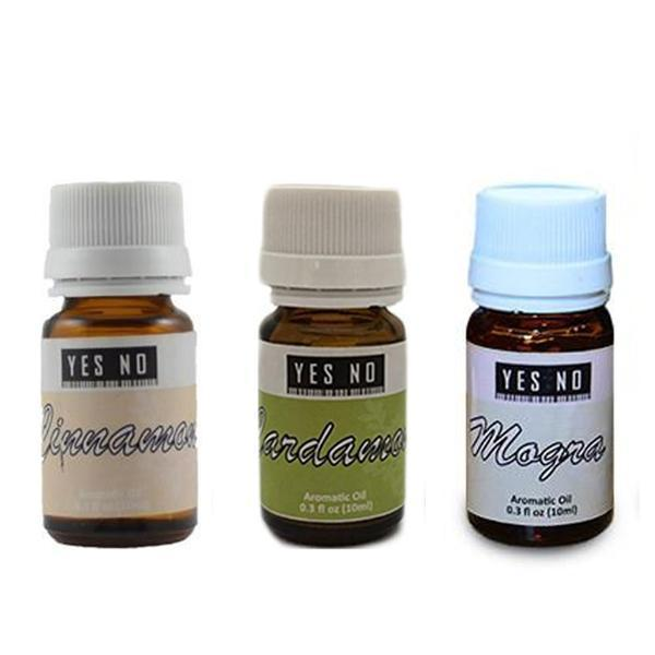 YesNo.in Essential Oil Combo Pack ( Cinnamon + Cardamom + Mogra ) - Set of 3