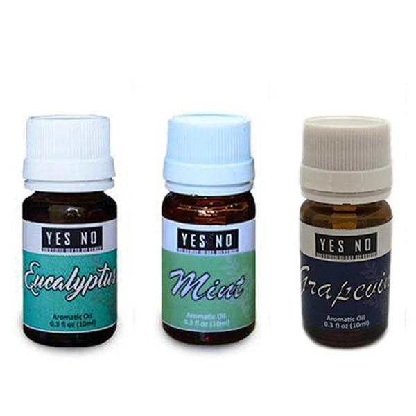 YesNo.in Essential Oil Combo Pack ( Eucalyptus + Mint + Grapevine ) - Set of 3 - YesNo