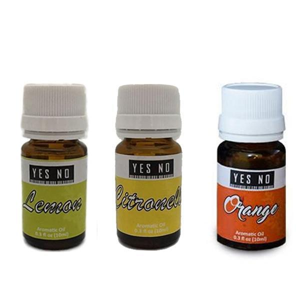 YesNo.in Essential Oil Combo Pack ( Lemon + Citronella + Orange ) - Set of 3