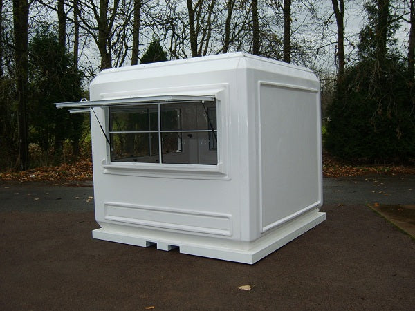 Modular GRP Kiosk ready for branding