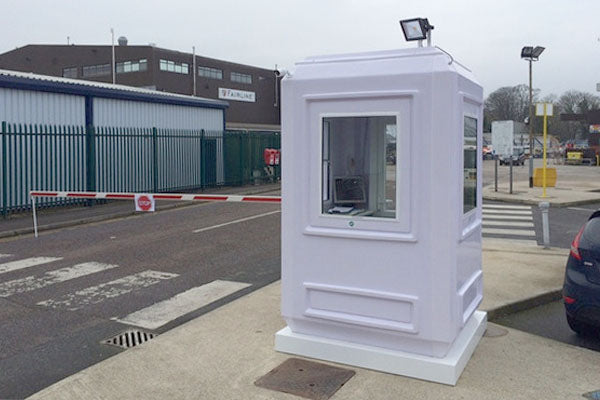 Single security cabin at UK business premises