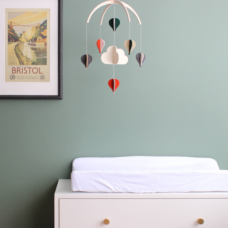 Hot Air Balloons Baby Mobile - Modern Crib Mobile