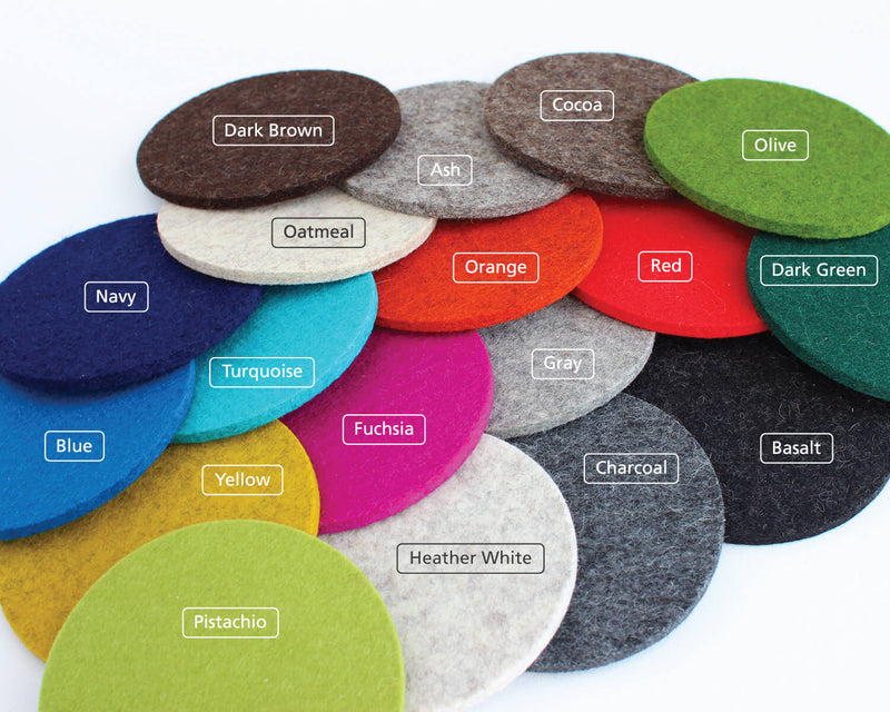 round felt coasters colors
