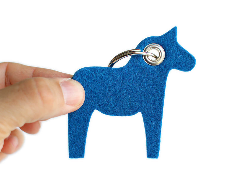 swedish dala horse key chain