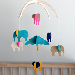 elephant nursery mobile