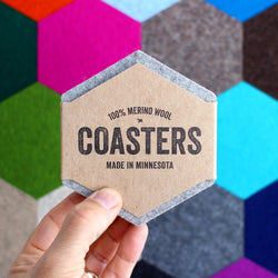 hexagon felt coasters