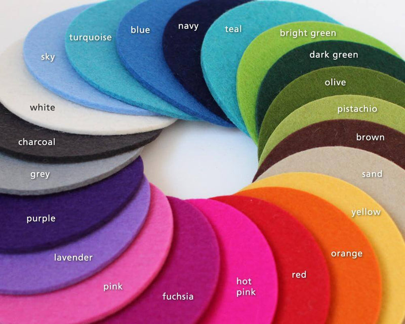 felt tray colors