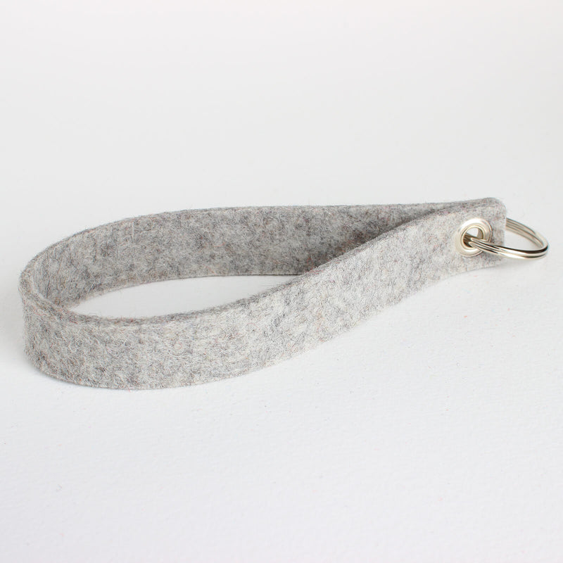 single felt key chain wristlet