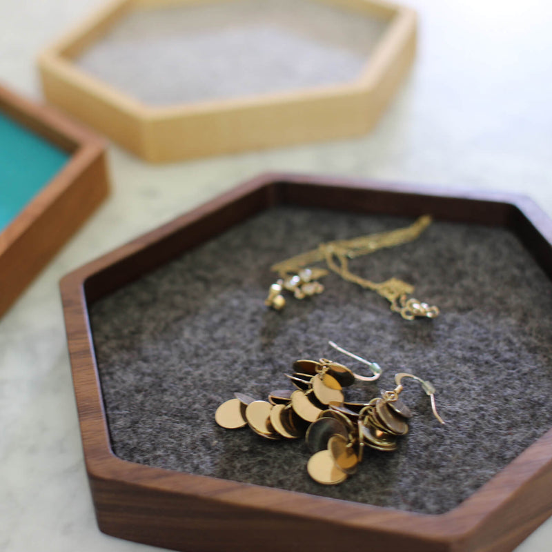 hexagon jewelry tray