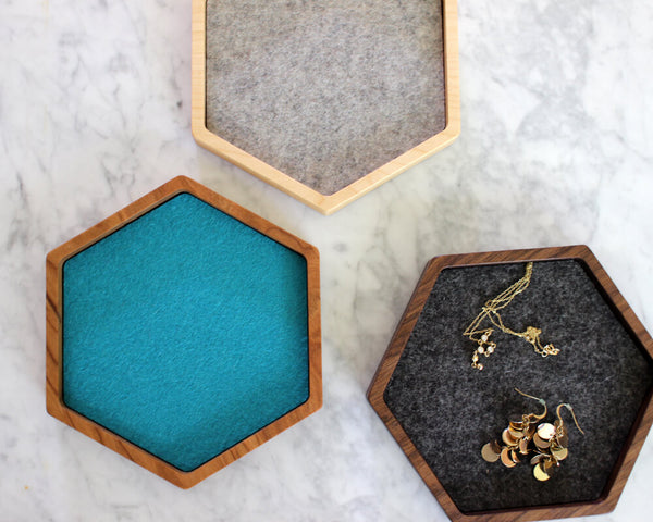 hexagon valet tray