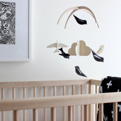 Monochrome Baby Crib Mobile - Black and White Baby Mobile
