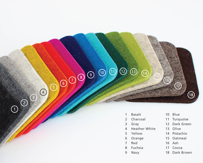 square felt coaster colors