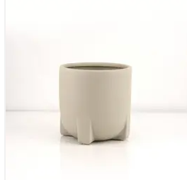 taupe footed planter - 5""