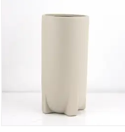 taupe footed TALL planter - 4.5""