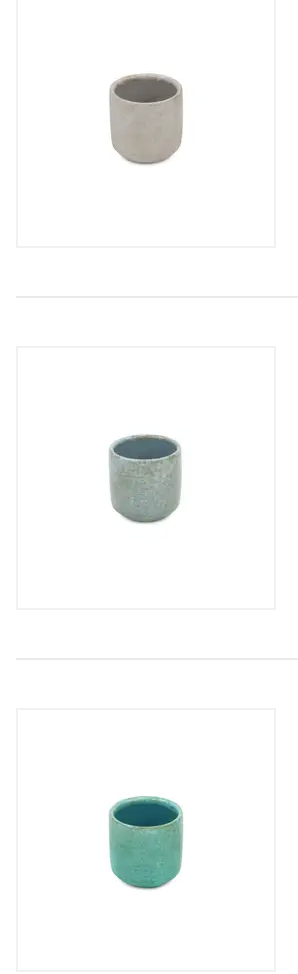 Ceramic crackle glaze pot 3""