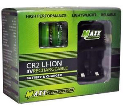 Maxx CR2 Rechargeable Bundle