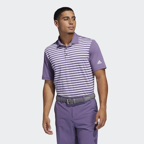 Adidas ULTIMATE365 STRIPE POLO SHIRT Purple