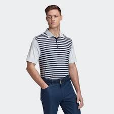 Adidas ULTIMATE365 STRIPE POLO SHIRT Collegiate Navy