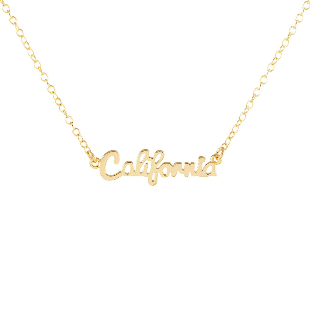 """California"" Script Necklace by Kris Nations"