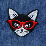 """Hipster Cat"" Patch"