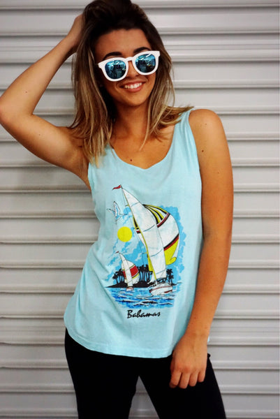 """Bahamas"" Vintage Tank - Shop Lost Generation  - 1"