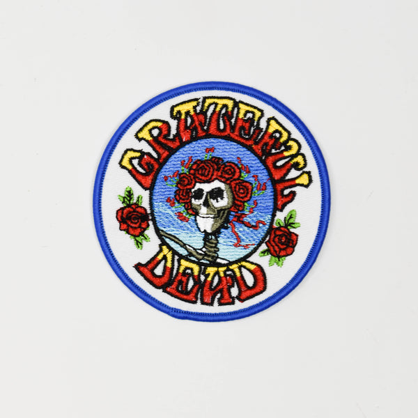 Grateful Dead Skull & Roses Circle Patch